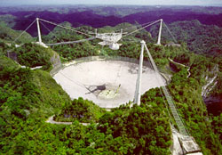 The Arecibo Telescope in Puerto Rico.
